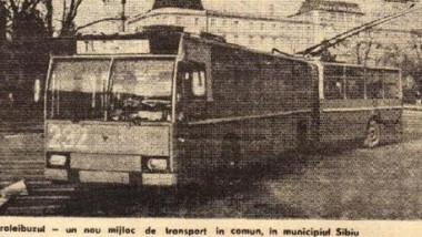 Troleibuzul - un nou mijloc de transport in comun in municipiul Sibiu